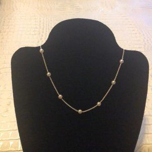 Silver and Pearl Choker/Necklace